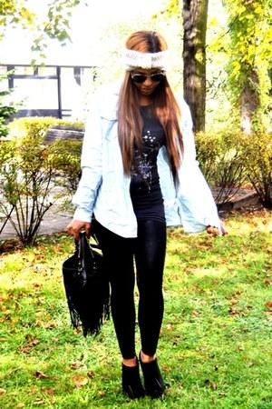 black Zara boots - light blue Textile Elizabeth and James jacket