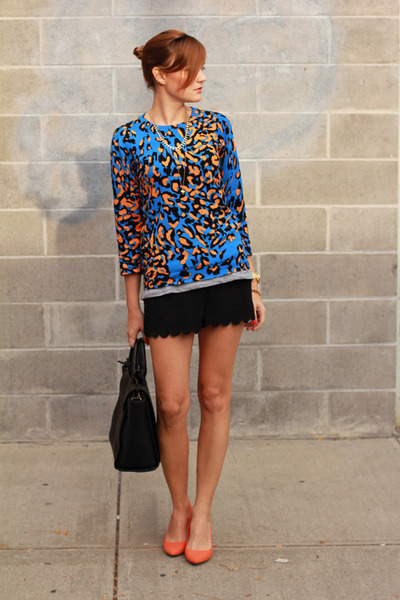 asos sweater - Zara shorts - Stradivarius heels