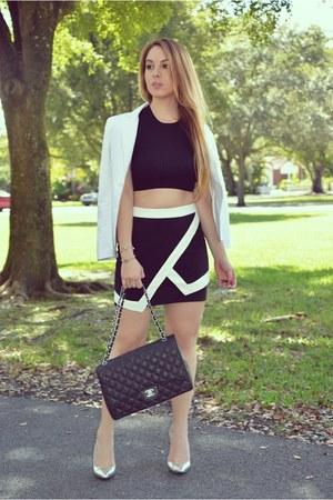 Hot Miami Styles skirt - Guess blazer - Chanel bag
