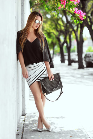 Hot Miami Styles skirt - Chanel bag - Ray Ban sunglasses - Kenneth Cole heels