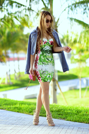 Hot Miami Styles dress - Guess jacket - Rebecca Minkoff bag