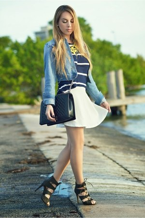 Charlotte Russe blouse - Chanel bag - Charlotte Russe skirt