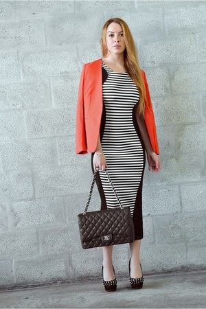 Hot Miami Styles dress - J Crew blazer - Chanel bag
