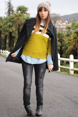 Mango coat - Mango sweater - skirt