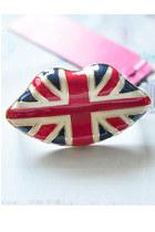union jack lip ring