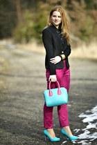 candy colorpu chicnova bag - chicnova shoes - black chicnova jacket