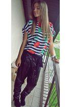 Zara t-shirt - Topshop shoes - Mango pants - Guess bracelet