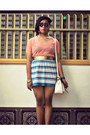 Maple-shirt-parkmall-bag-july-skirt-centropelle-pumps