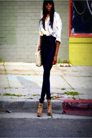 vintage bag - vintage blouse - American Apparel pants