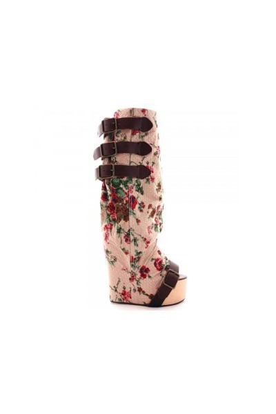 pink Irregular Choice London boots