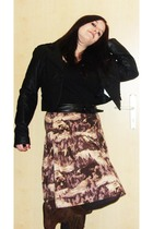 brown Gosha skirt - black Hot Topic belt - black thrifted jacket - brown vintage