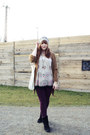 Beige-accessorize-hat-purple-h-m-jeans-eggshell-yumi-top