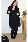 Black-h-m-dress-black-asos-boots
