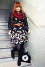 Black-primark-dress-black-new-yorker-jacket-ruby-red-thrifted-scarf