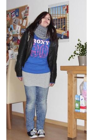 Roxy - H&M - H&M jacket - Accessorize - H&M jeans - shoes