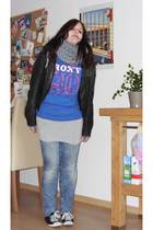 Roxy - H&M - H&M jacket - Accessorize - H&M jeans - shoes