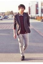 H&M jeans - Zign boots - H&M blazer - H&M shirt - Selected Homme tie