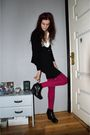 Black-jane-norman-dress-pink-h-m-stockings-black-cardigan-black-skopunkten