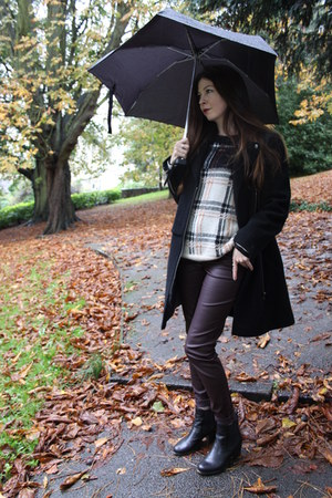 Marks and Spencers jumper - Jones Bootmakers boots - Marks and Spencers coat