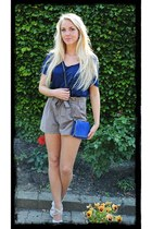blue Stella McCartney bag - light brown GINA TRICOT shorts