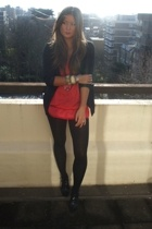 vintage dress - Topshop Boutique blazer - Zara shoes - H&M tights