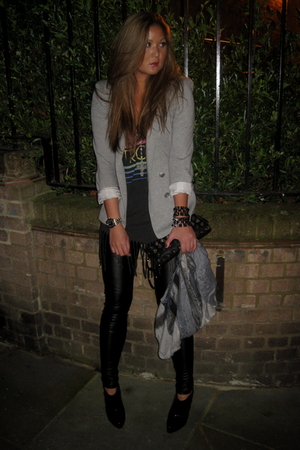 black Topshop leggings