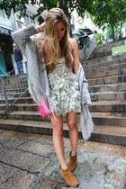 asos boots - Aje dress - Cambridge bag - Chois cardigan