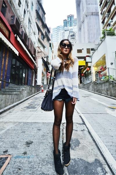 bec & bridge sweater - Alexander Wang bag - One Teaspoon shorts