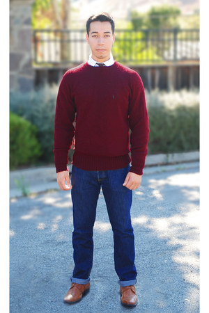 dark red Ralph Lauren sweater