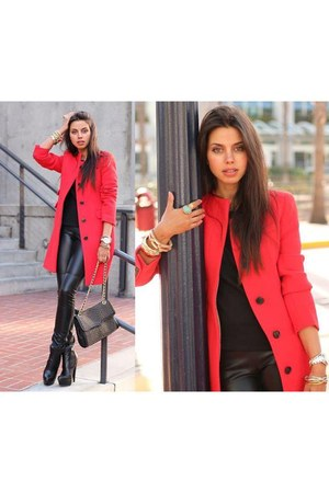 red Pull & Bear coat
