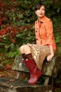 Crimson-chooka-boots-orange-american-rag-jacket-salmon-jcrew-shirt