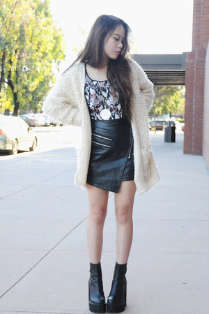 Jeffrey Campbell boots - Style Stalker skirt - H&M top
