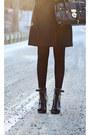 Black-topshop-boots-black-bcbg-max-mara-coat-mustard-anthropologie-scarf