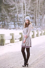 Black-bcbg-max-mara-coat-heather-gray-lace-free-people-dress