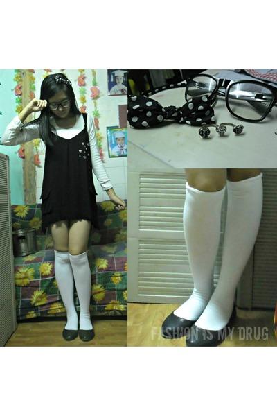 socks - dress - flats - accessories
