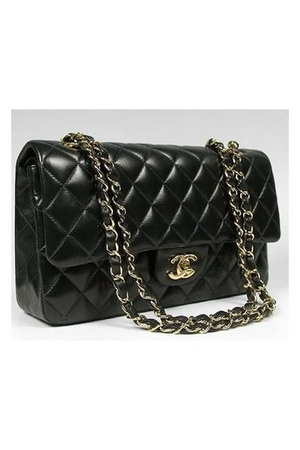 black Chanel lambskin 255 purse