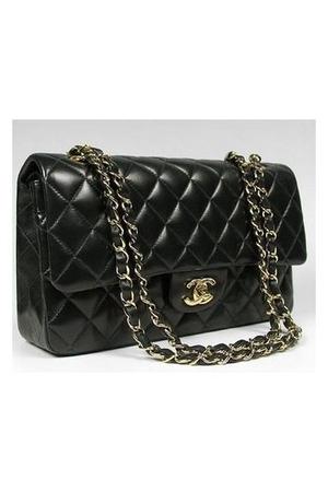black Chanel lambskin 255 purse