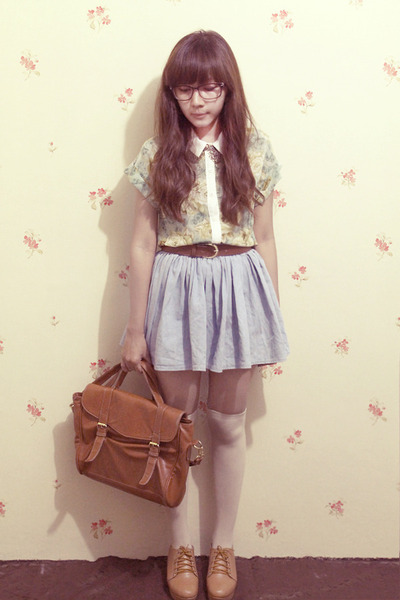 floral print clothinc shirt - denim H&amp; skirt