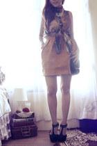 mustard Picnic skirt - burnt orange galaxy-prints she-inside top