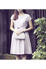 Light-pink-dream-dress-ivory-vintage-purse-off-white-chrysalis-pumps