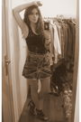 Zara-t-shirt-fishbone-skirt-wonders-shoes-vintage-belt