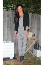 leopard print Topshop pants - Topshop blazer - boutique Topshop top