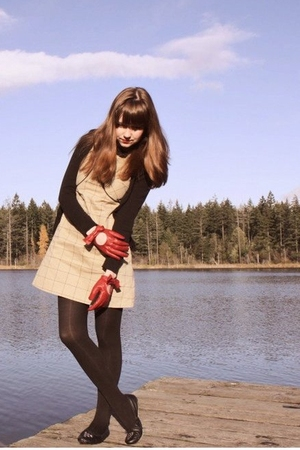 H&M sweater - Dear Creatures dress - modcloth gloves - Walmart tights - Bona Dra