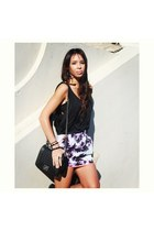 black Chanel bag - black Bracewell top - asos skirt