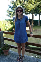 H&M hat - glasses - Stradivarius dress - shoes