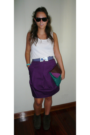 Bershka belt - BLANCO skirt - - Mango purse