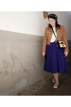 fake suede H&M jacket - cotton H&M sweater - H&M scarf - Miu Miu bag