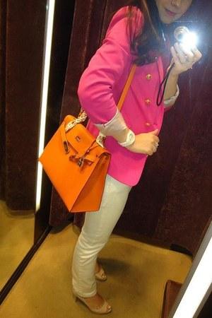 Miu Miu shoes - Ralph Lauren jeans - Zara jacket - Hermes bag - Hermes belt
