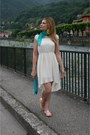 Ivory-oasap-dress-teal-occhiblu-bag-yellow-oasap-loafers
