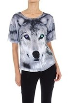 Purple and Blue Wolf Tee